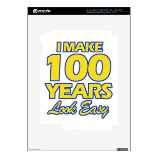 100 YEARS OLD BIRTHDAY DESIGNS SKINS FOR iPad 3