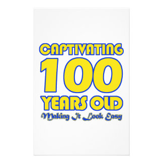 100 YEARS OLD BIRTHDAY DESIGNS STATIONERY