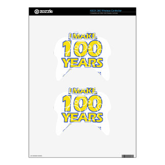 100 YEARS OLD BIRTHDAY DESIGNS XBOX 360 CONTROLLER DECAL