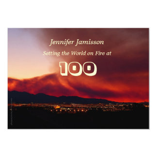 100 Years Old Birthday Party Invites World on Fire
