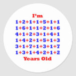 100 Years old! Round Stickers