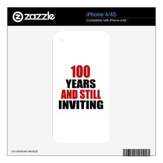100 Years still Inviting iPhone 4 Decal