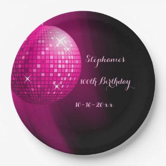 100a bola de discoteca atractiva del fiesta de las plato de papel 22,86 cm