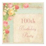 100a fiesta de cumpleaños de los rosas elegantes anuncios personalizados