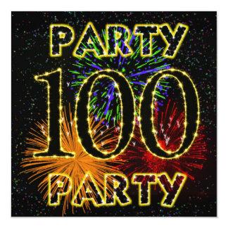 100a invitación de la fiesta de cumpleaños con los