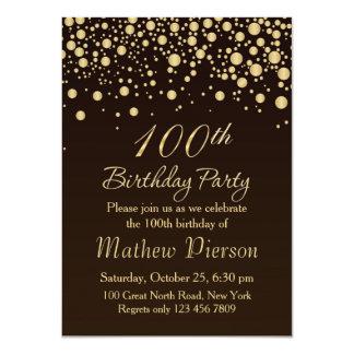 100a invitación de la fiesta de cumpleaños del