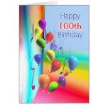 100a pared feliz del globo del cumpleaños felicitacion