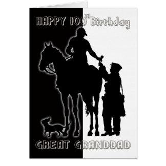 100a tarjeta de cumpleaños blanco y negro Greatgra