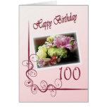 100a tarjeta de cumpleaños feliz - ramo de la flor