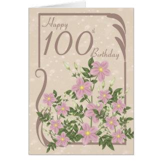 100a tarjeta de felicitación floral del cumpleaños