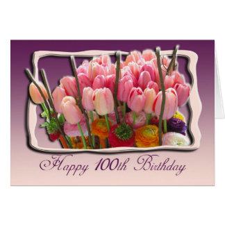 100a tarjeta floral de la enhorabuena del