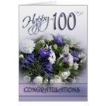 100a tarjeta floral de la enhorabuena del cumpleañ