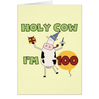 100as camisetas y regalos del cumpleaños de la vac tarjeta de felicitación