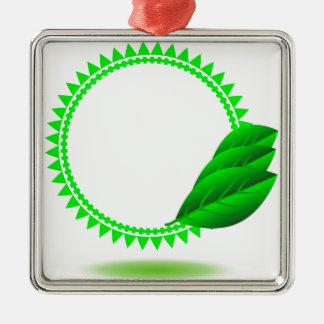100Green Icon_rasterized Metal Ornament