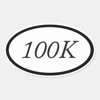 100k pegatina ovalada