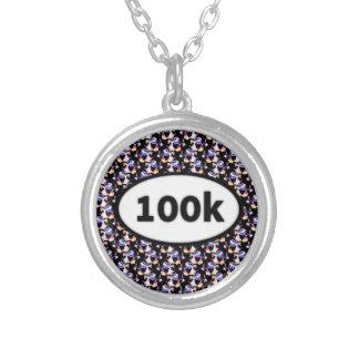 100k round pendant necklace