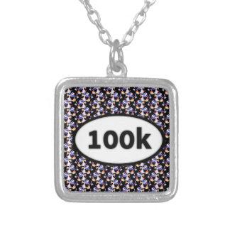 100k square pendant necklace
