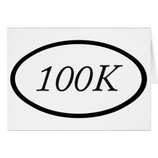 100k tarjeta de felicitación