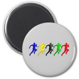 100m 200m 400m 800m Runners Running Run 2 Inch Round Magnet