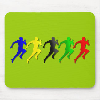 100m 200m 400m 800m Runners Running Run Mouse Pad