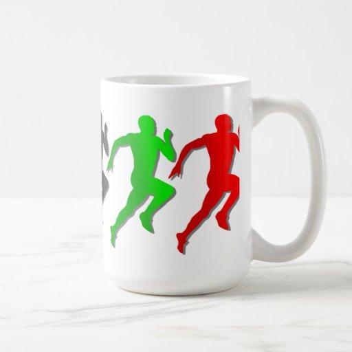 100m 200m 400m 800m Runners Running Run Coffee Mugs