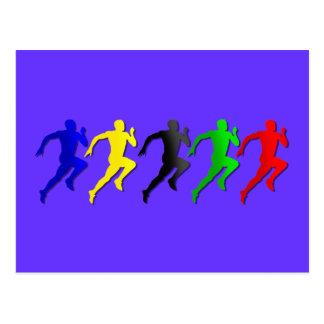 100m 200m 400m 800m Runners Running Run Post Cards