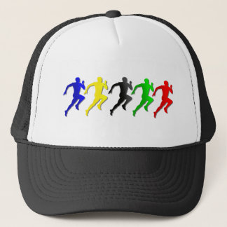 100m 200m 400m 800m Runners Running Run Trucker Hat