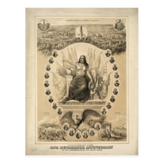 100o Aniversario de la independencia americana 187 Tarjeta Postal