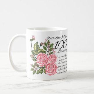 100o Blanco del cumpleaños taza blanca clásica de