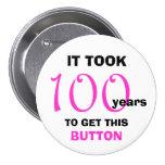100o Botón de los regalos de la mordaza del Pin Redondo De 3 Pulgadas