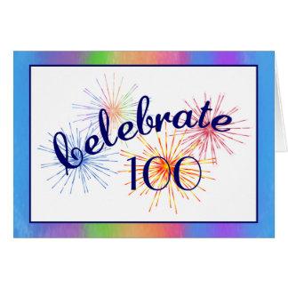 100o Celebración del cumpleaños Tarjeta De Felicitación