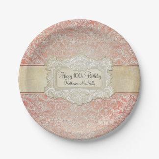 100o Cordón francés de la regencia del vintage de Platos De Papel