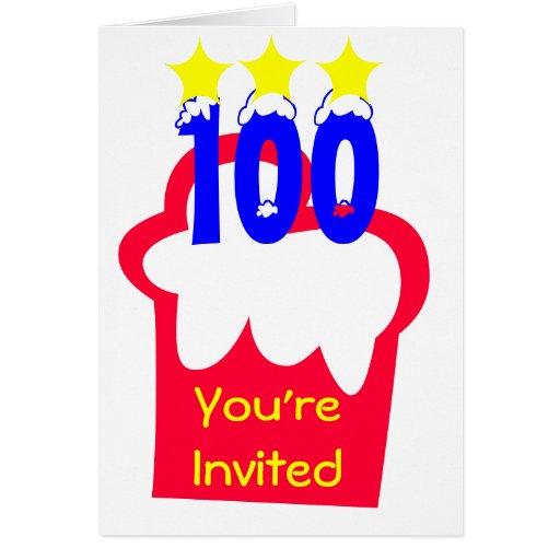 100o Cumpleaños Felicitación