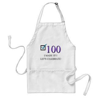 100o cumpleaños feliz delantal