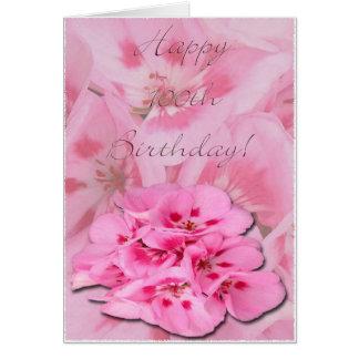 100o cumpleaños feliz/hydrangeas tarjeta de felicitación