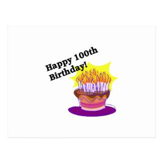 100o cumpleaños feliz postal