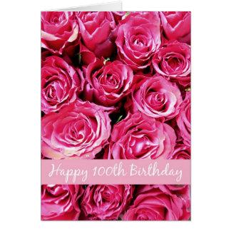 100o cumpleaños feliz tarjeta de felicitación