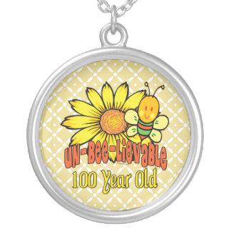 100o cumpleaños - increíble en 100 años collar plateado