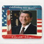 100o cumpleaños Mousepad de Reagans Alfombrilla De Ratones