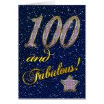 100o cumpleaños para alguien fabuloso tarjeta de felicitación