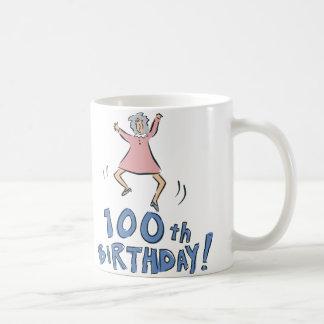100o ¡Cumpleaños! Taza Básica Blanca