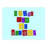 100o Día de letras de molde de la escuela Tarjeta Postal