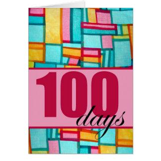 100o día feliz, cumpleaños coreano Baek-IL para el Tarjetas