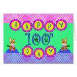 100o día feliz, cumpleaños coreano Baek-IL Tarjeta