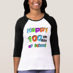 100o día feliz de escuela playera