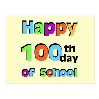 100o día feliz de escuela postales