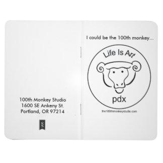 100o Diario del bosquejo del estudio del mono Cuaderno