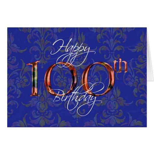 100o feliz cumpleaños tarjeta de felicitación