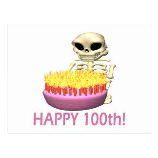 100o feliz tarjeta postal