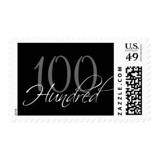 100o franqueo negro de la fiesta de cumpleaños del